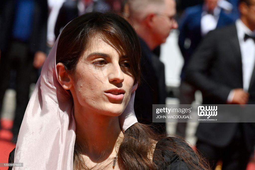 سارینا فرهادی - فرش قرمز جشنواره فیلم کن - قهرمان
