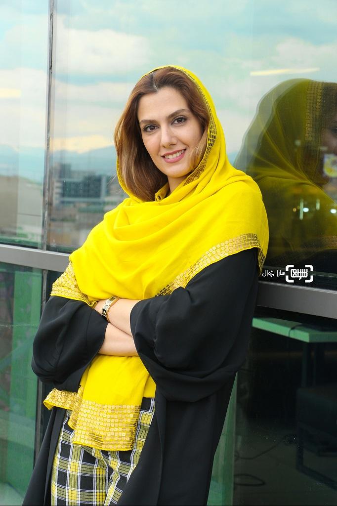 سپیده مظاهری تهرانی در روز سوم سی و هفتمین جشنواره جهانی فیلم فجر