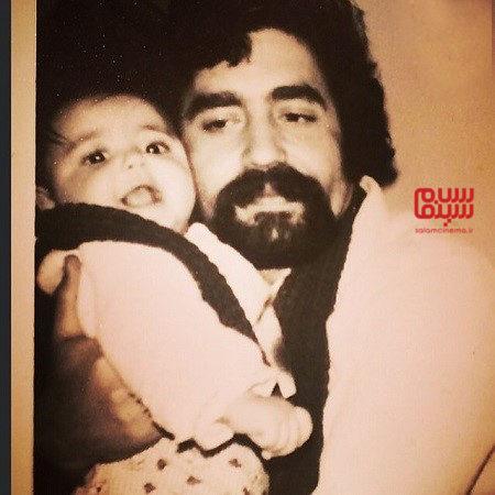 کودکی شقایق فراهانی در کنار پدرش - برنامه دورهمی مهران مدیری