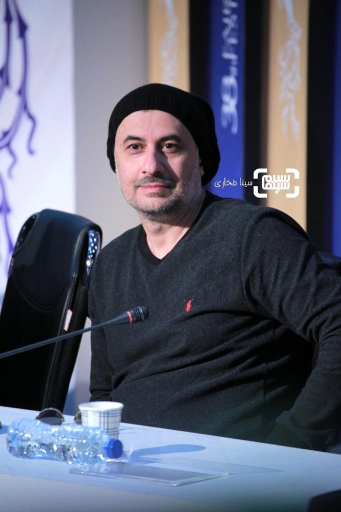 سیاوش مفیدی - گزارش تصویری - نشست خبری فیلم «سینما شهر قصه» - جشنواره فیلم فجر 38