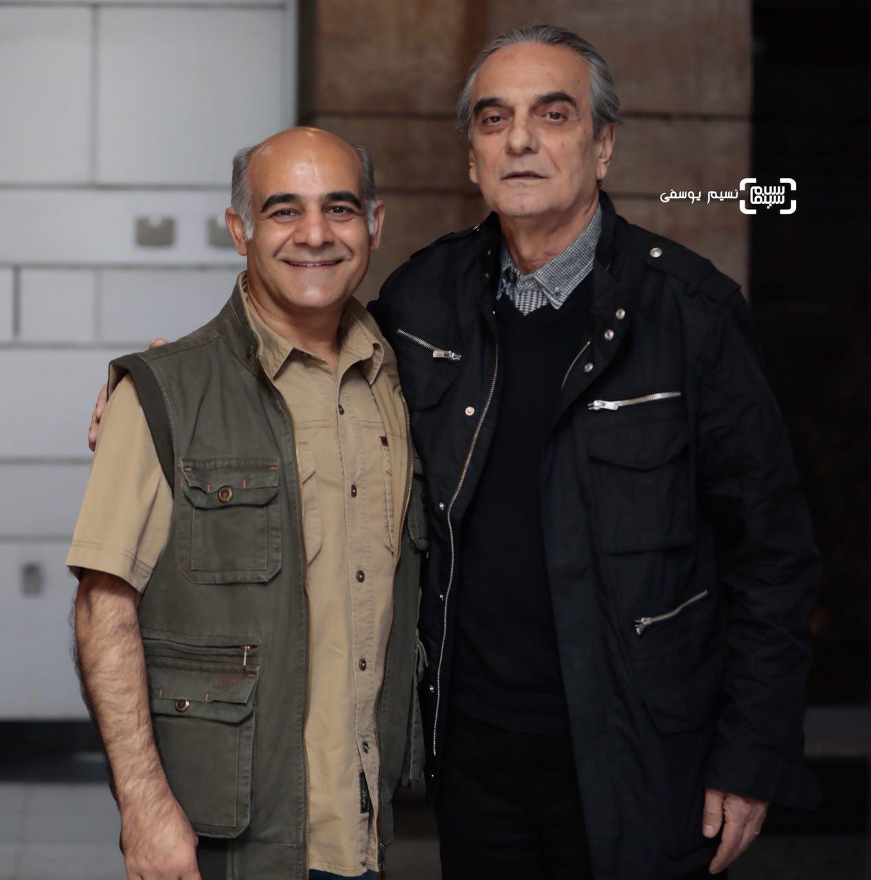 همایون ارشادی و سیاوش چراغی پور در اکران خصوصی فیلم «سرو زیر آب»