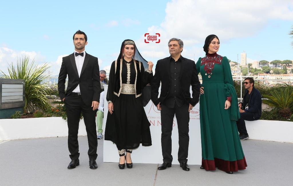 سودابه بیضایی، محمدرسول اف، رضا اخلاقی راد و نسیم ادبی در فتوکال فیلم «لرد» در جشنواره فیلم کن2017