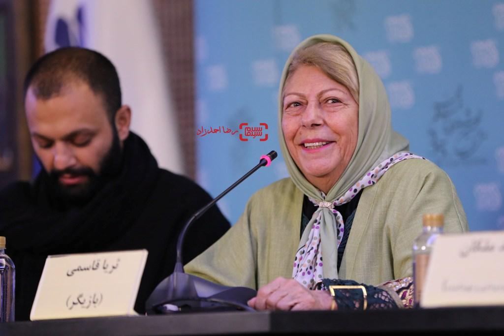 ثریا قاسمی در نشست فیلم «ویلایی ها» در جشنواره فجر 35