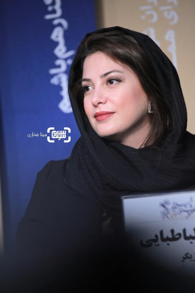 طناز طباطبایی - گزارش تصویری  - نشست خبری فیلم «خورشید» -جشنواره فیلم فجر 38