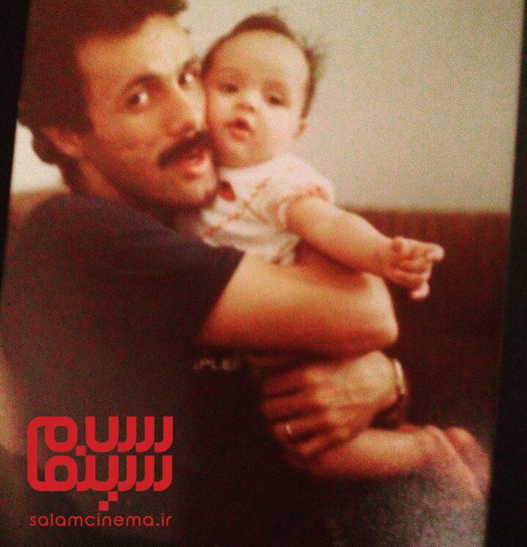 عکس ترانه علیدوستی و پدرش حمید علیدوستی