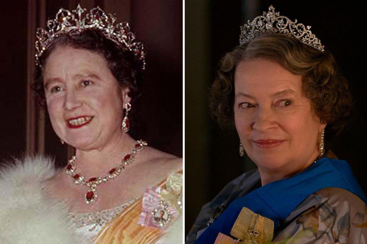 ملکه مادر در سریال تاج