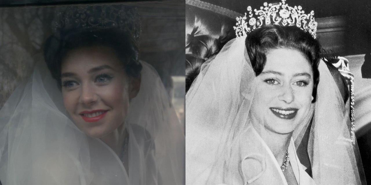 ونسا کربی در نقش پرنسس مارگارت در سریال تاج